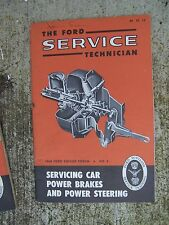 1960 Ford Service Forum Manual Servicing Car Power Brakes & Power Steering    R