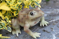 Deko Laubfrosch Gartenfigur Lebensecht Kröte Figur Tierfigur Teich Frosch Unke