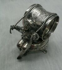 Rare antique Meriden silverplate figural sailor boy napkin ring 299 missing nuts