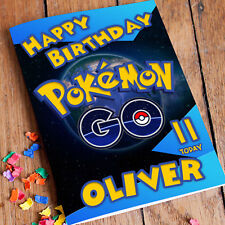 POKEMON GO Personalised Birthday Card! FAST Shipping! Premium Quality.