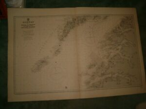 Vintage Admiralty Chart 2311 NORWAY - SHEET 9 - 1918 edn