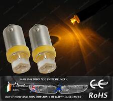 LED 233 T4W BA9S Amber Yellow Interior Light Dashboard Bulbs Lamps Car Bike 12v