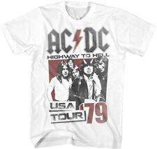 AC/DC-Hell Tour 79-X-Large White T-shirt
