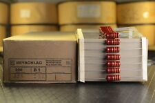 Beyschlag B1 1W NOS New Old Stock Carbon Film Resistors 5% High End parts