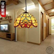 Tiffany Style Baroque Pendant E27 Light Ceiling Lamp Stained Glass Lighting Fixt