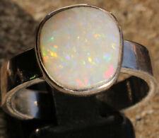 Coober Pedy Opal 2.6 Karat 925er Silberring Größe 17,8 mm
