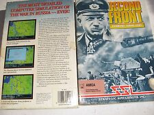 """USED SSI SECOND FRONT BOXED WITH MANUAL AND 3 1/2"""" DISK AMIGA GAME"""
