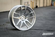 18x10.5 Inch +22 ESR Sr08 5x114.3 Machined Silver Wheels Rims 350z Evo WRX STI