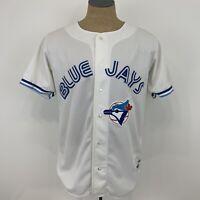 Vintage Authentic Ravens Toronto Blue Jays White Button Up MLB Jersey Mens XL