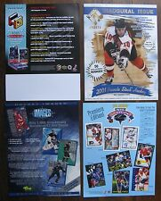 4 Hockey Card Sell Sheets (no cards) 1999 HoloGrFx, etc. - Martin Brodeur, etc.