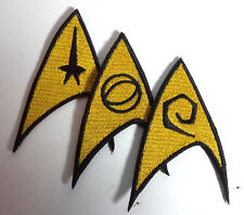 "Star Trek Classic Uniform  Insignia 3""  Patch Set- FREE S&H (STPAL-SET-Yellow)"
