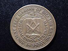 1987 THE GRAND LODGE OF ANCIENT FREE MASONS OF S.C. TOKEN!  YY189NXX