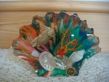 More details for vintage resin / acrylic sea shells/coral/crab shell ornament made in ibiza