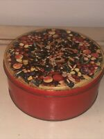 VINTAGE RARE DUNCAN HINES OLD NEW ORLEANS FRUIT CAKE TIN CHRISTMAS