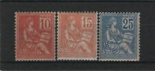 """FRANCE STAMP TIMBRE 116 / 118 """" MOUCHON SERIE TYPE II 1900 """" NEUFS xx TB  R457"""