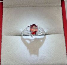 Unbranded Ruby White Gold Filled Costume Rings