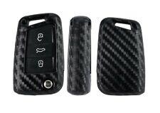 VW MK7 Pouch Carbon Fiber Pattern Silicone Car Key Case Cover Volkswagen Golf 7