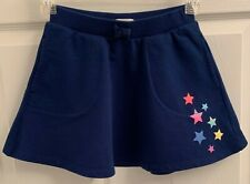 The Children's Place Sz M 7-8 Girl's Navy Blue Poodle Skirt with Stars Euc
