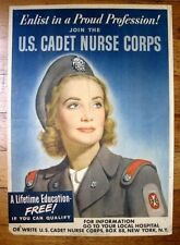1940s Authentic WWII Poster Join The US Cadet Nurse Corps Edmundson