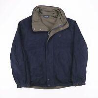 Vintage NAUTICA Green & Blue REVERSIBLE Nylon Fleece Jacket Size Men's Medium