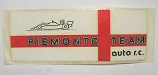 VECCHIO ADESIVO AUTO F1 RALLY / Old Original Sticker PIEMONTE TEAM (cm 20 x 7)