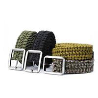 Paracord Belt Utility Waist Support Adjustable Military Tactical Handmade Sport