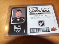 2017-18 UPPER DECK MVP NHL PLAYER CREDENTIAL JONATHAN QUICK LEVEL 2