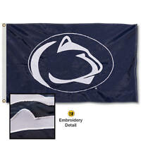 Penn State University Embroidered and Appliqued Nylon Flag