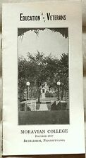 1940s Moravian College Bethlehem Pennsylvania G.I. Bill of Rights info booklet b
