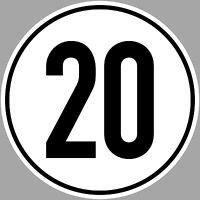 3 Sticker 20 KMH km / H 7 7/8in Speed Agriculture TÜV din1451