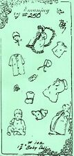"1:12 scale Emanjay Dollhouse Doll Clothes pattern #250 Layette 1-7/8"" Baby uncut"