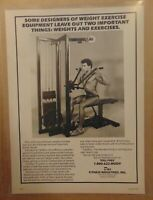 Vintage 80's FITNESS Exercise Equipment Weight Machine 1984 Print Ad Advertising