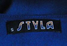 STYLA RearKeyholeRoyalBlueThiHiSideSplit50%CottonBlend SzS NWoT