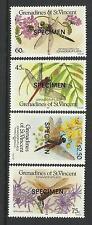 ST VINCENT GRENADINES 1986 Dragonflies OPT 4v MNH