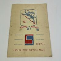 Vintage Steadily Advance Leipzig First to Meet Russian Army Pamphlet Book