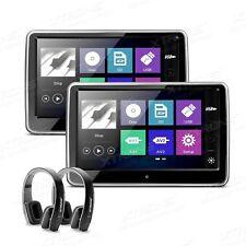 "2x 10"" Auto KFZ DVD 1080P Video Kopfstütze Monitor Touchscreen 2 Kopfhörer inkl."