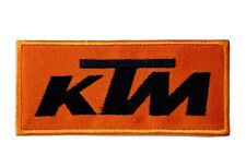 LARGE KTM Racing Car Logo  Embroidered Iron/Sew on Patch Badge Motorsports