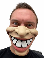 Big Teeth Mask Funny Half Face Buck Teeth Clown Halloween Accessory Mouth Cover