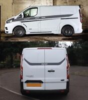 Transit Custom M Sport Decals Grahpics Vinyl ANY COLOUR Fits Tourneo RS Edition