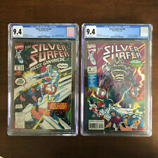 Silver Surfer 81 & 82 v3 CGC 9.4 NM WHITE PAGES Ganymede 1st Tyrant NEW CASE MCU