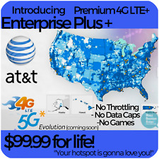 ATT 4G LTE Unlimited HOTSPOT Data $99.99 UNTHROTTLED NO CAPS TRULY UNLIMITED SIM