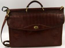 Vintage Jack Georges Woven Leather Tuscany Double Gusset Flap laptop briefcase
