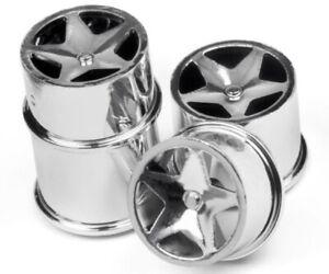 NEW HPI Q32 / Baja Q32 Buggy Super Star Wheel Set Chrome (4) 114279