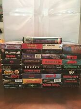 VHS Horror Collector Starter Kit * Box Lot * Be A Cool Dude * 36 Tapes