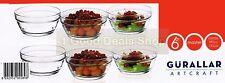 6Pc Clear Base Glassware Bowls Set Dessert Ice Cream Sundae Fruit Trifle Bowl
