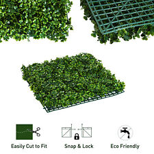 24PCS Artificial Boxwood Hedge Mat Panels Greenery Walls Garden Backyard 10x 10""