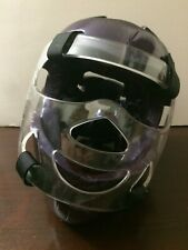 Thunder By ProForce Martial Arts Purple Head Gear Protection With Face Shield