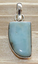 Natural Larimar colgantes de joyería de piedras preciosas en Plata 925 Rareza