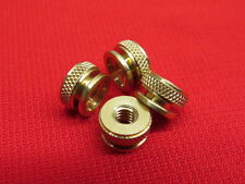 NEW Ford Model T spark plug knurl nuts brass (For original plugs) set of 4 A11T