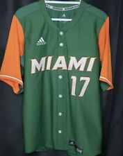 Adidas Men's Miami Hurricanes Baseball Jersey Sz. Small NEW #17 ACC